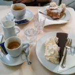 Apple strudel and Sachertorte in Vienna